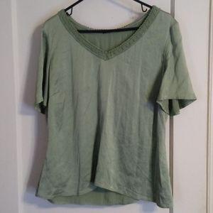 Elie Tahari Green Silk blouse